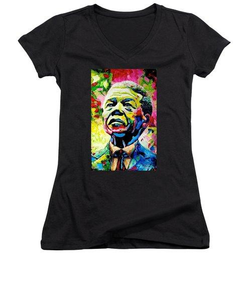 Nelson Mandela Women's V-Neck
