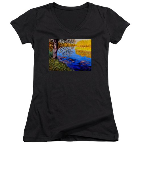 October Afternoon Women's V-Neck (Athletic Fit)