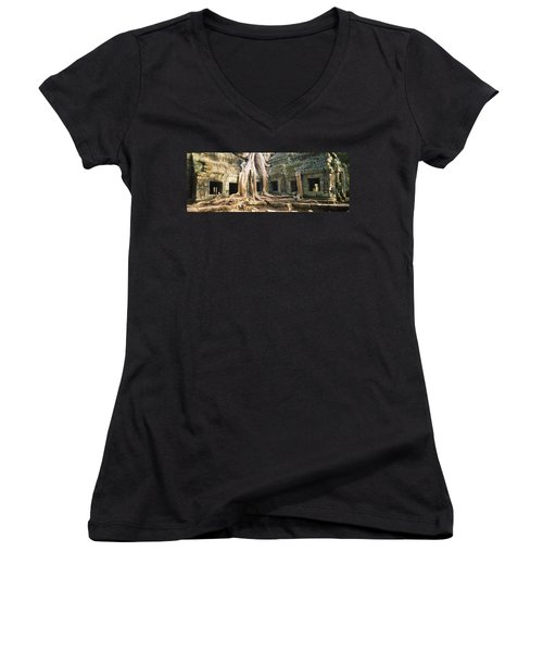 Old Ruins Of A Building, Angkor Wat Women's V-Neck