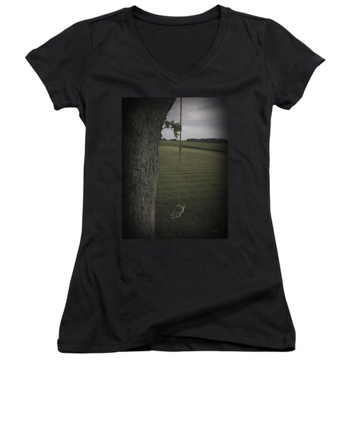Once Upon A Time Women's V-Neck T-Shirt (Junior Cut) by Cynthia Lassiter