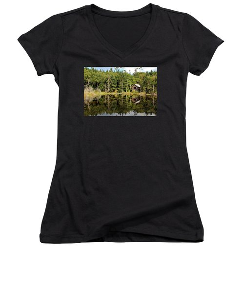 Pond Along The At Women's V-Neck (Athletic Fit)