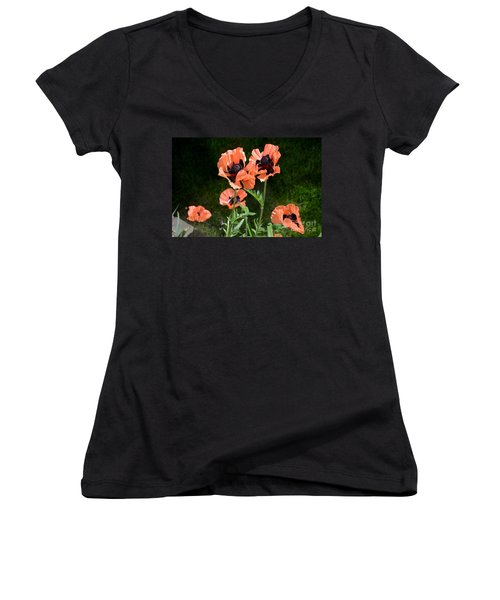 Poppies Women's V-Neck (Athletic Fit)