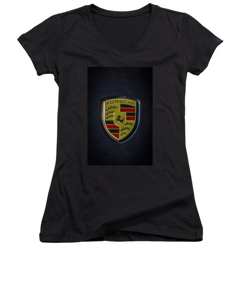 Porsche Logo Women's V-Neck (Athletic Fit)