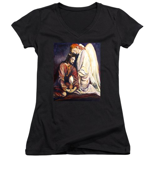 Agony In The Garden Women's V-Neck T-Shirt