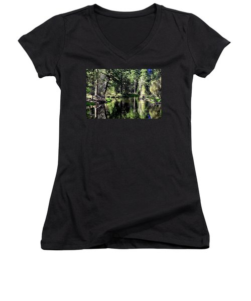 River Reflections Women's V-Neck (Athletic Fit)