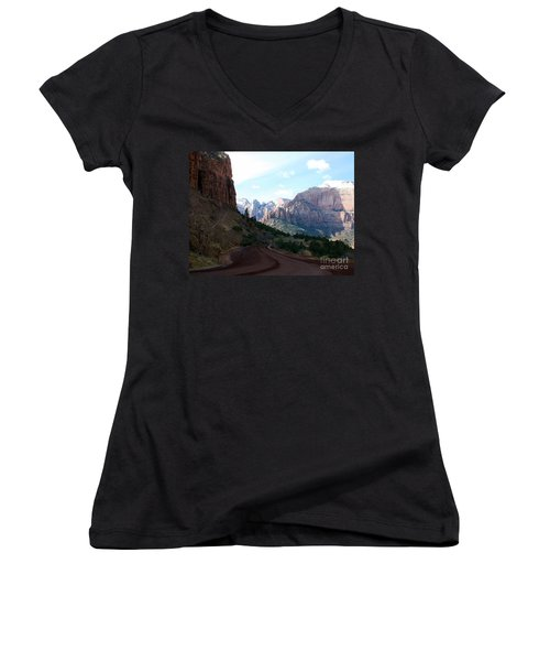 Road Through Zion National Park Women's V-Neck