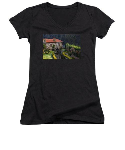 Rural Landscape  Women's V-Neck (Athletic Fit)