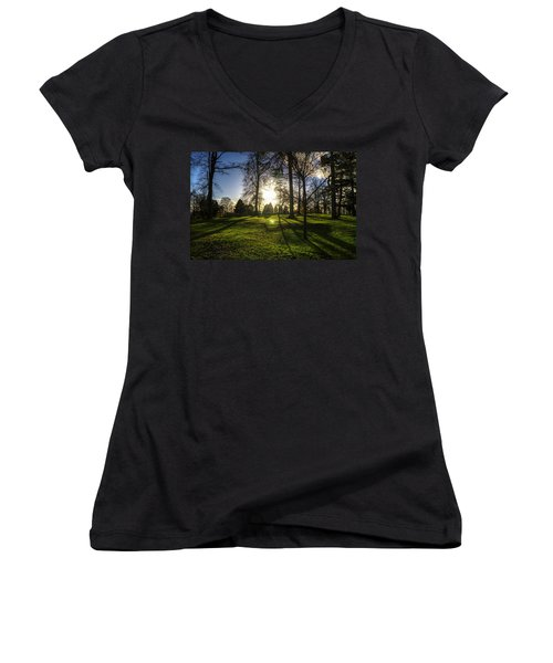 Short Days Long Shadows Women's V-Neck