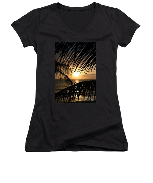 Women's V-Neck T-Shirt featuring the photograph Spirit Of The Dance by Sharon Mau