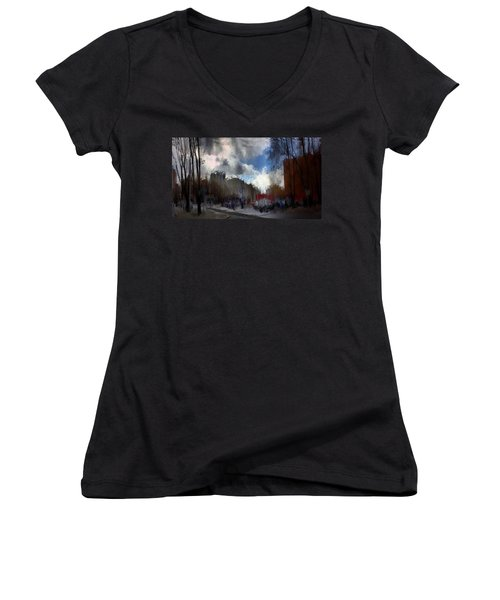 Streetlights 2 Women's V-Neck T-Shirt