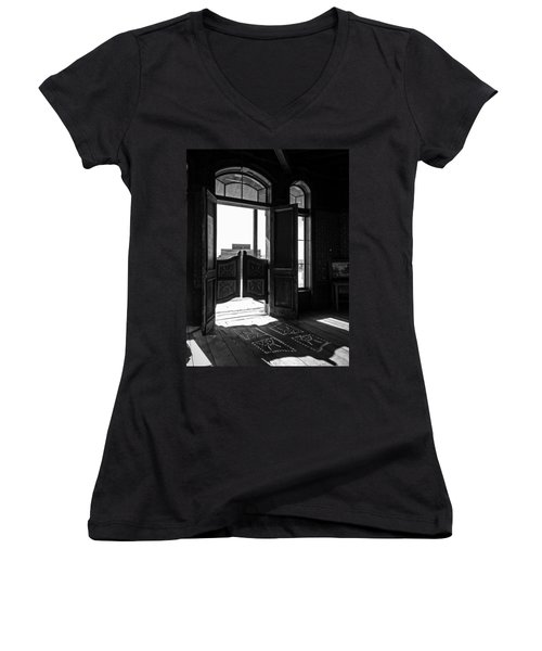 Swinging Doors Women's V-Neck