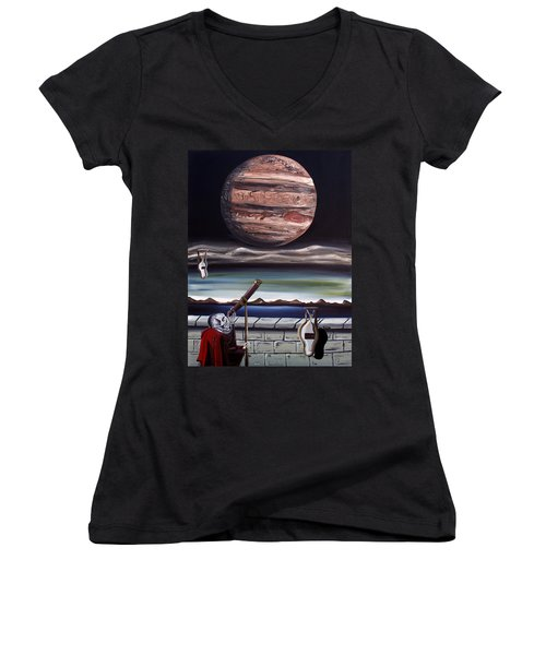 The Eternal Staring Contest Women's V-Neck T-Shirt