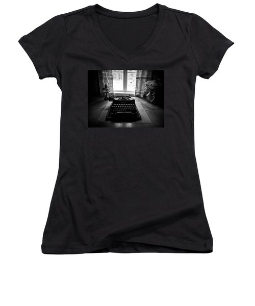 The Office Women's V-Neck T-Shirt (Junior Cut) by Jouko Lehto