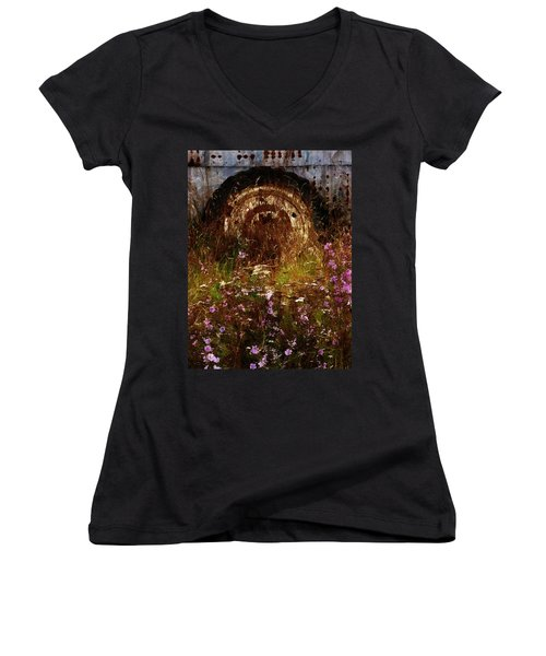 The Spare Wheel  Women's V-Neck T-Shirt