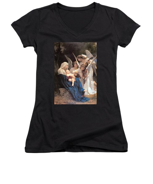 The Virgin With Angels Women's V-Neck