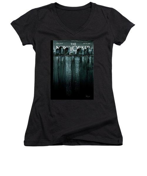 New Yorker September 12th, 2011 Women's V-Neck T-Shirt