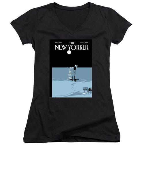 New Yorker August 31st, 2009 Women's V-Neck