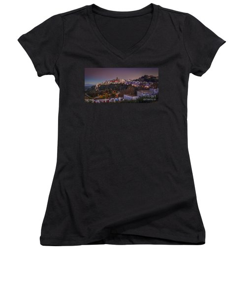 Vejer De La Frontera Panorama Cadiz Spain Women's V-Neck (Athletic Fit)