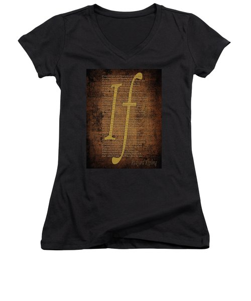 Vintage Poem 3 Women's V-Neck (Athletic Fit)