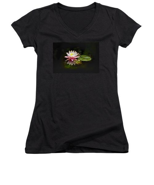Water Lily Women's V-Neck (Athletic Fit)