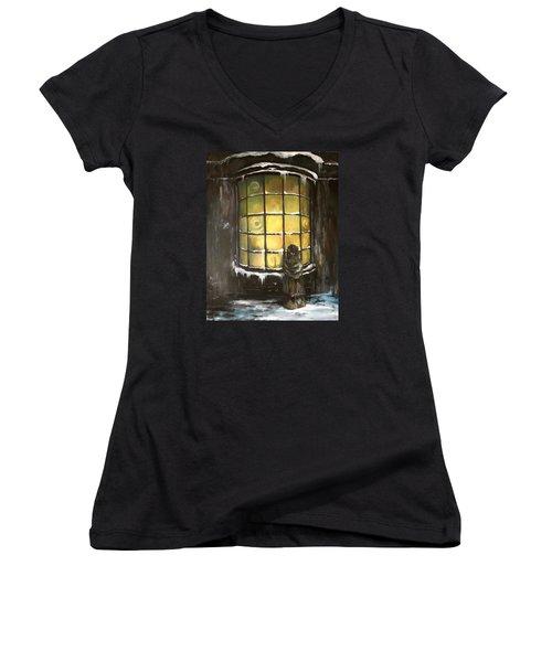 Ye Old Shoppe  Women's V-Neck T-Shirt (Junior Cut) by Jean Walker