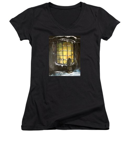 Ye Old Shoppe  Women's V-Neck T-Shirt