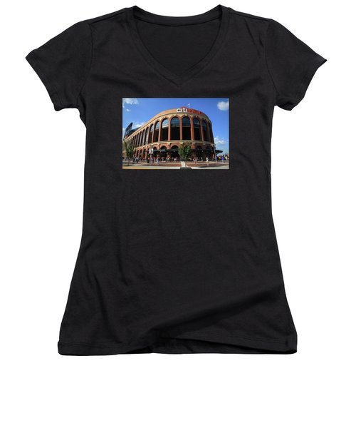 Citi Field - New York Mets 3 Women's V-Neck (Athletic Fit)