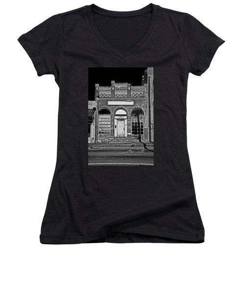 104 South Washington Women's V-Neck T-Shirt (Junior Cut) by Mark Alder