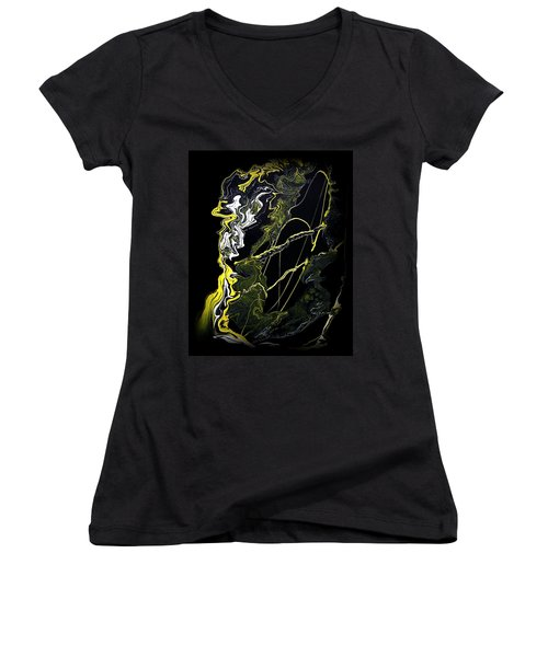 Abstract 21 Women's V-Neck (Athletic Fit)