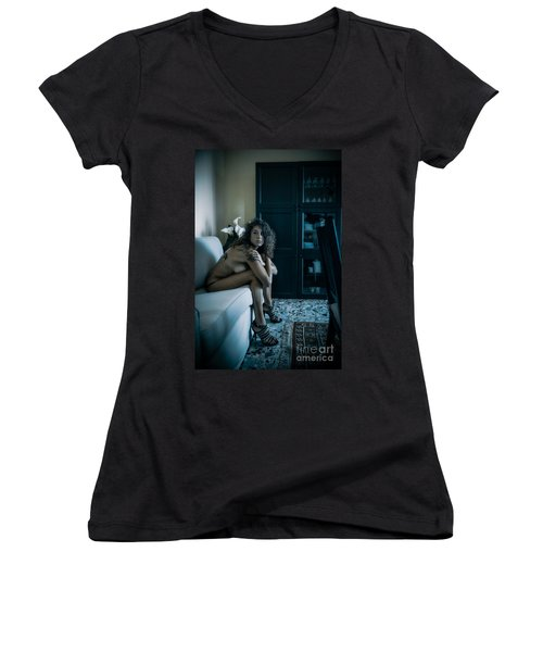 Que Nos Vies Aient L'air D'un Film Women's V-Neck T-Shirt
