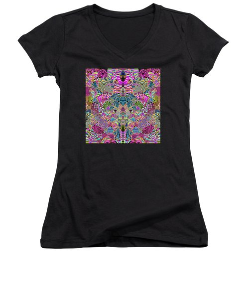 1332 Abstract Thought Women's V-Neck T-Shirt