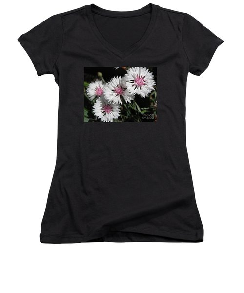 Bachelor Button From The Frosted Queen Mix Women's V-Neck (Athletic Fit)