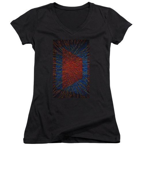 Mobius Band Women's V-Neck T-Shirt (Junior Cut) by Kyung Hee Hogg