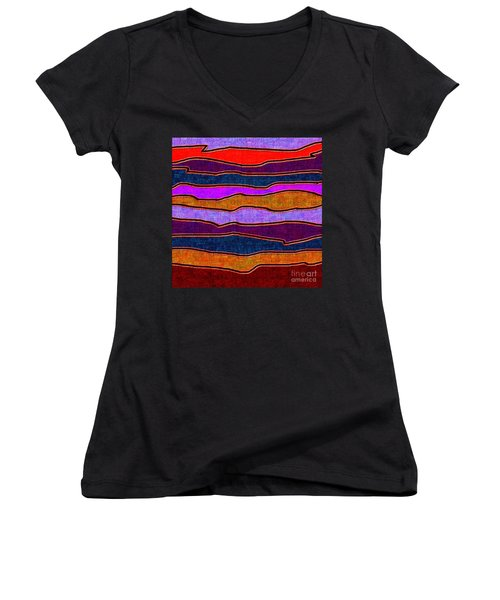 1536 Abstract Thought Women's V-Neck T-Shirt