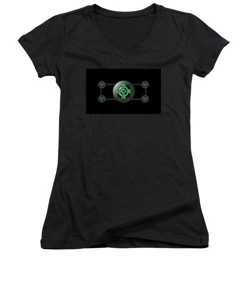 Celtic Cross Women's V-Neck (Athletic Fit)