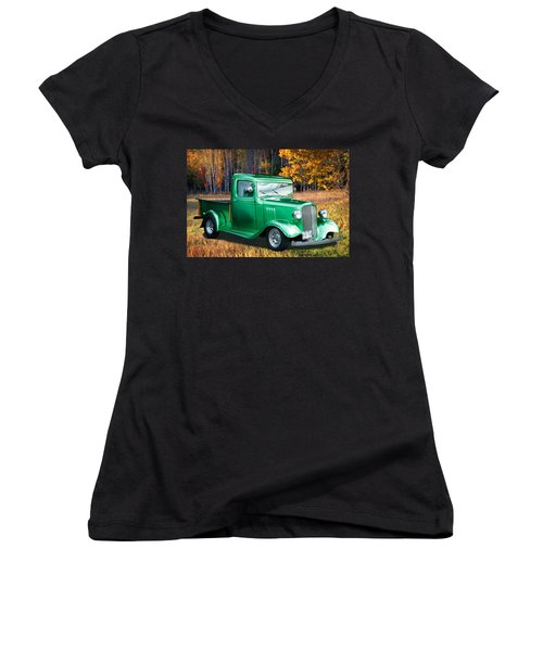 1934 Chev Pickup Women's V-Neck