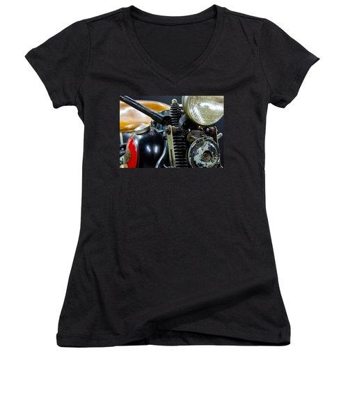 1936 El Knucklehead Harley Davidson Motorcycle Women's V-Neck (Athletic Fit)