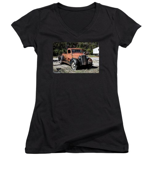 1937 Chevy Wrecker Women's V-Neck (Athletic Fit)