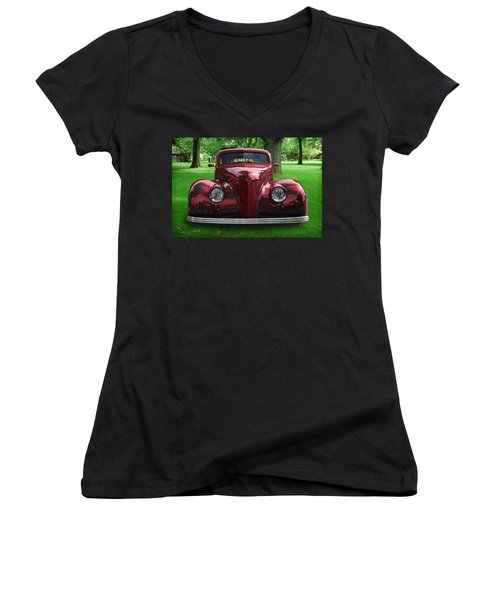 1938 Ford Coupe Women's V-Neck