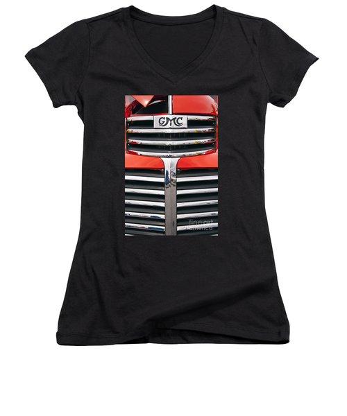 1946 Gmc Truck Grill Women's V-Neck T-Shirt