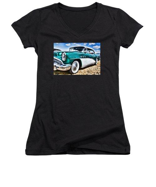 1955 Buick Women's V-Neck