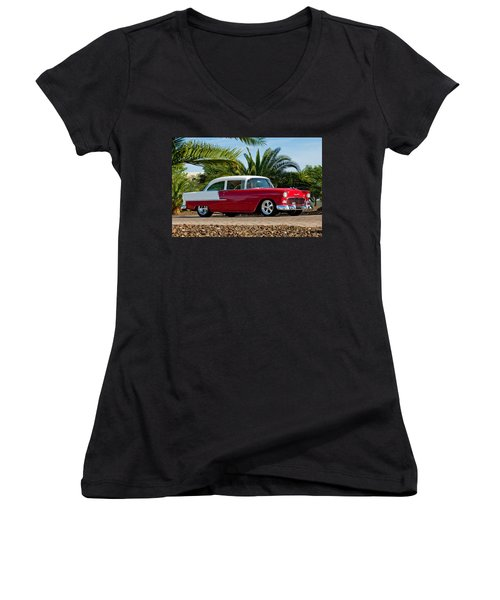 1955 Chevrolet 210 Women's V-Neck