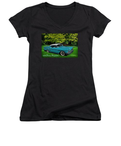 1958 Chev Impala Women's V-Neck