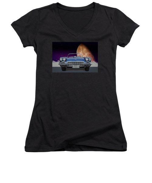 1961 Corvette Women's V-Neck
