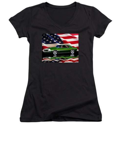 1968 Camaro Tribute Women's V-Neck (Athletic Fit)