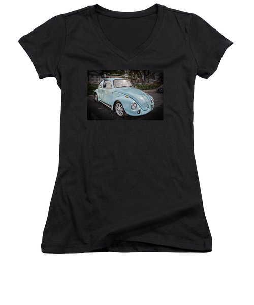 1974 Volkswagen Beetle Vw Bug Women's V-Neck (Athletic Fit)