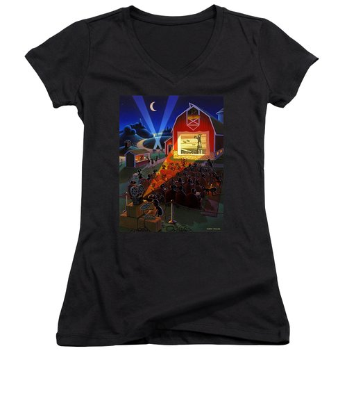 Ants At The Movies Women's V-Neck