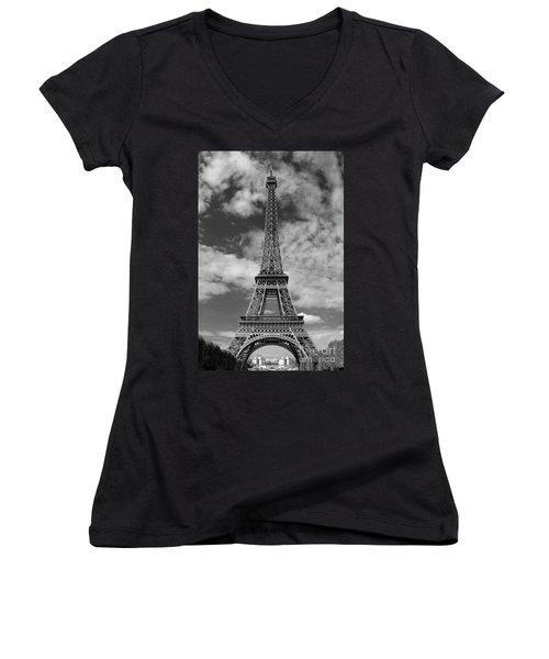Architectural Standout Bw Women's V-Neck T-Shirt (Junior Cut) by Ann Horn