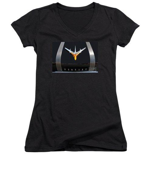 Classic Pontiac Hood Ornament Women's V-Neck T-Shirt