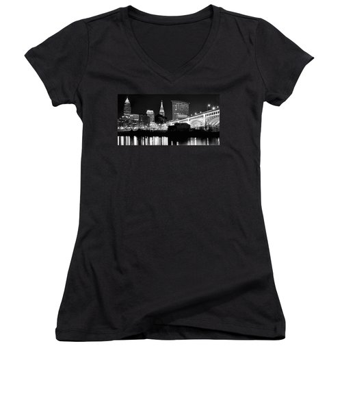Cleveland Skyline Women's V-Neck (Athletic Fit)